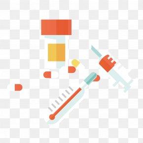 Thermometer Needle Cold Medicine - Medicine Adobe Illustrator PNG