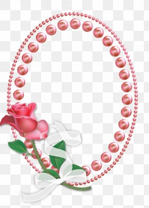 Rose Pearl Mirror Frame - Picture Frame Mirror Pearl PNG