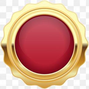 Seal Badge Red Gold Clip Art Image - Art Clip Art PNG