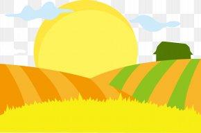 Golden Wheat Field Vector - Cartoon Wheat Illustration PNG
