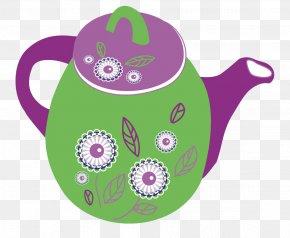 Green Kettle - Teapot Kettle Clip Art PNG