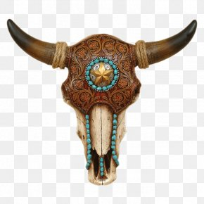 Bull - Texas Longhorn Bull Skull PNG