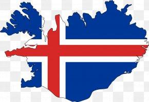Map - Flag Of Iceland Icelandic Map National Flag PNG