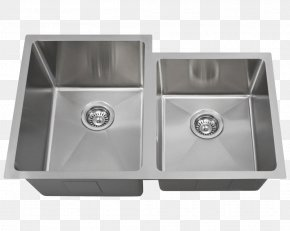 Sink - Sink Brushed Metal MR Direct Stainless Steel Drain PNG