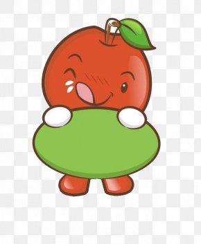 Cute Little Apple Modeling - Apple Cartoon PNG