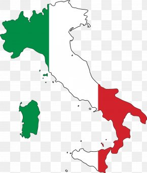 Italy Clipart - Flag Of Italy Map Clip Art PNG