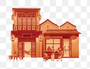 Chinese Classical Architecture - Mid-Autumn Festival Chinese Architecture Chinese Marriage PNG