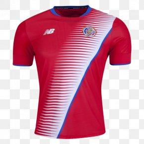 T-shirt - 2018 FIFA World Cup Costa Rica National Football Team Jersey T-shirt PNG