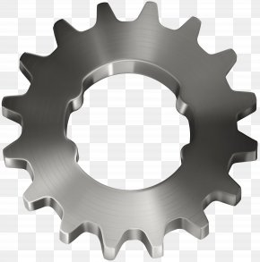 Silver Gear Transparent Clip Art Image - Gear Icon Machine Illustration PNG