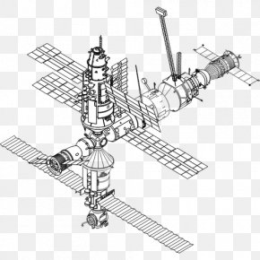 International Space Station - International Space Station Drawing Mir Spacecraft PNG