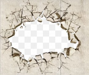 Land Crack - Painting Drawing Wall PNG