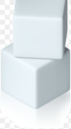 Stacked Superposed Pure White Cube - Rectangle PNG