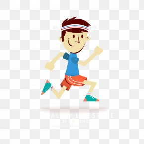Running Man Vector Cartoon - Running Cartoon PNG