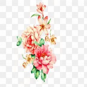 Peony Painting - Floral Design Watercolor Painting Flower PNG
