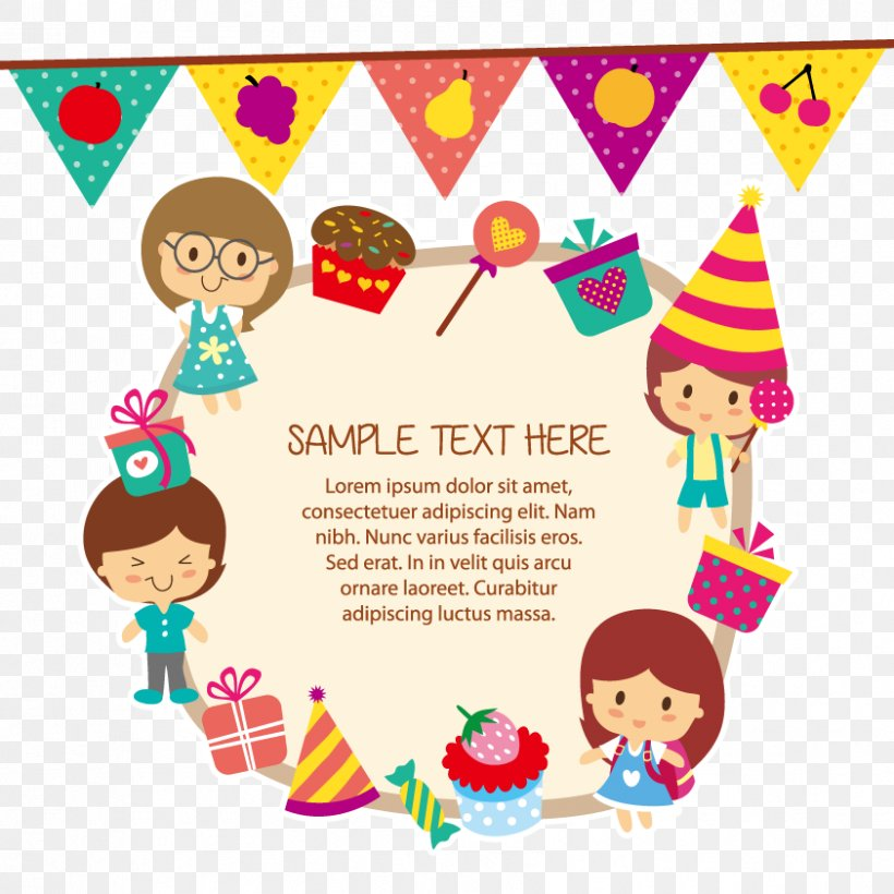 Child Birthday Greeting Card Clip Art, PNG, 842x842px, Child, Area, Art, Birthday, Children S Party Download Free