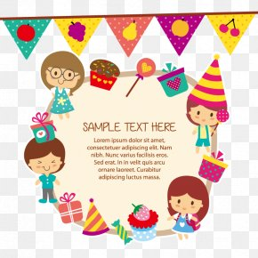 Vector Children - Child Birthday Greeting Card Clip Art PNG