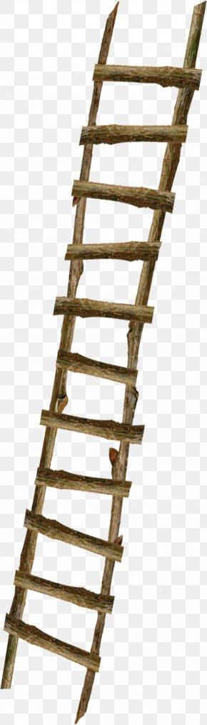 Floating Decorative Wooden Ladder - Du Iz Tak? Ladder Wood Stairs PNG
