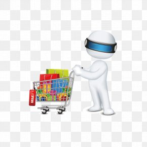 People Pushing A Shopping Cart - Royalty-free Stock Photography Clip Art PNG