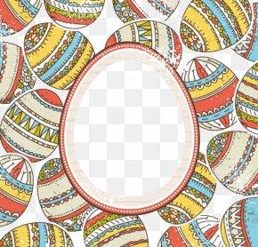 Retro Easter Egg Vector Border Pattern - Easter Bunny Easter Egg PNG