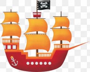 Cartoon Pirate Ship - Piracy Drawing Navio Pirata Clip Art PNG