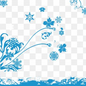 Snowflake Background Element Vector Material - Snowflake Graphic Design Euclidean Vector PNG