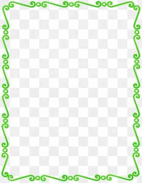 Lime Border Frame Pic - Blue Clip Art PNG