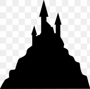 Silhouette - Silhouette Haunted House Clip Art PNG