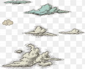 Vector Clouds Pen Drawing - Cloud Euclidean Vector Illustration PNG