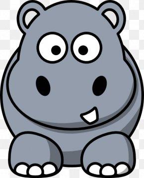Cute Hippo Cliparts - Hippopotamus Cartoon Clip Art PNG