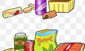Play Food Group - Junk Food Cartoon PNG
