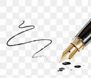 Writing Pen - Fountain Pen Writing Paper Nib PNG