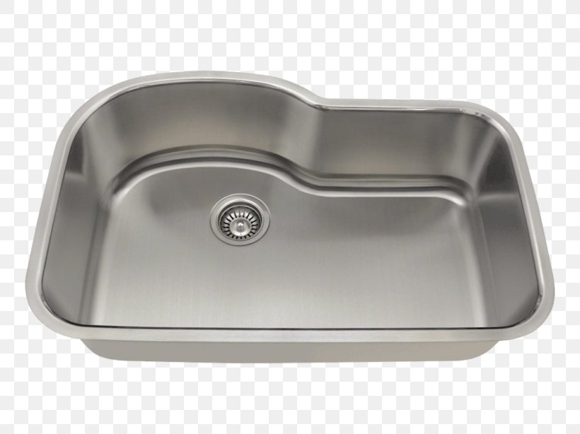 Kitchen Sink Stainless Steel Brushed Metal, PNG, 768x614px, Sink, Bathroom Sink, Bowl, Bowl Sink, Brushed Metal Download Free