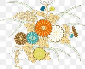 Ukiyo-e Style Floral Vector - Floral Design Ukiyo-e Download PNG