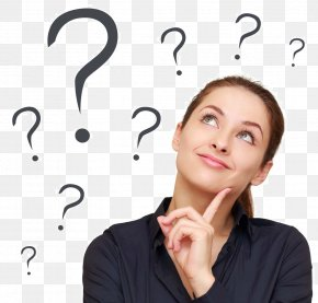 Thinking Woman - Thought Problem Solving Question Critical Thinking Information PNG