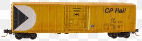 Yellow Mark - Railroad Car Rail Transport Goods Wagon PNG