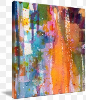 Painting - Watercolor Painting Acrylic Paint Gallery Wrap Modern Art PNG