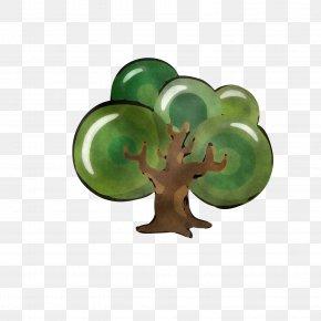 Glass Figurine - Green Leaf Plant Tree Symbol PNG