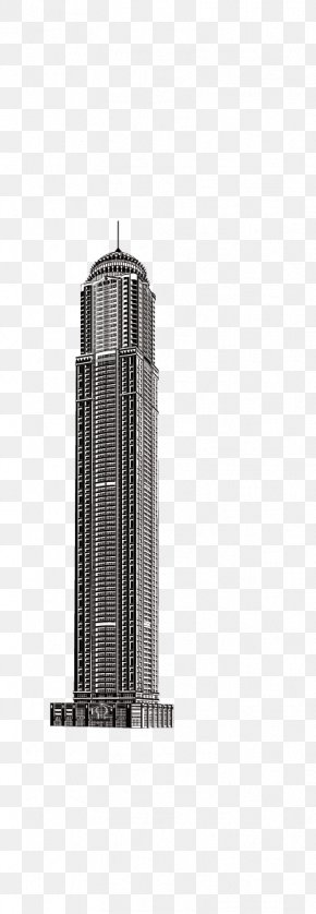 World Skyscrapers - Black And White Skyscraper High-rise Building PNG