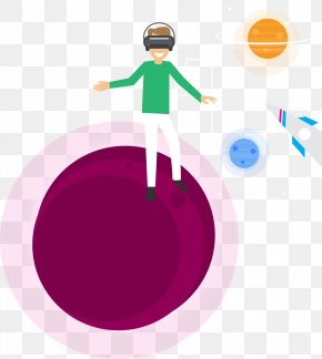 Virtual Reality Experience Of Space Travel - Virtual Reality Clip Art PNG