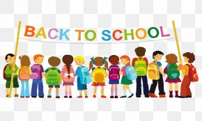 Back To School Elements - First Day Of School Student Class Teacher PNG