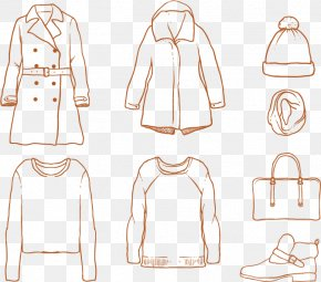 Hand-painted Women Winter Coat - Sleeve Winter Clothing Fashion Accessory PNG