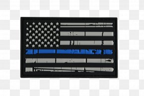 United States - The Thin Red Line Flag Of The United States Thin Blue Line Flag Patch PNG