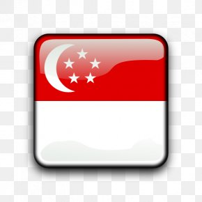 Sg Cliparts - Flag Of Singapore Clip Art PNG