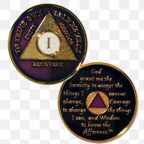 Medal - Sobriety Coin Alcoholics Anonymous Medal Challenge Coin PNG
