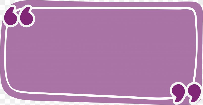 Rectangle Quotation Purple, PNG, 5784x3005px, Rectangle, Area, Brand, Citation, Lilac Download Free