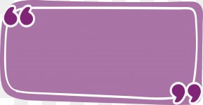 Purple Rectangle Reference Box - Rectangle Quotation Purple PNG