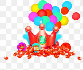 Crown Balloon - Crown Gold PNG