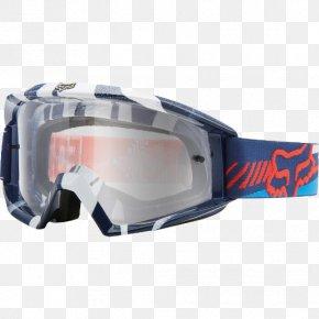 Race 2 2016 Fox Main Vicious Blue/Red GlassesAtv Goggles - Goggles Fox Racing Main Goggle PNG
