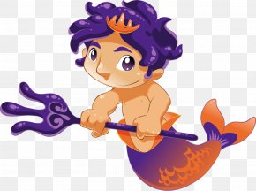 Colorful Mermaid - Mermaid Cartoon Animation PNG