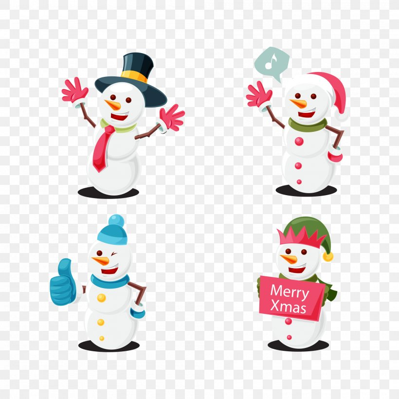 Vector Graphics Image Christmas Day Snowman, PNG, 2000x2000px, Christmas Day, Baby Toys, Color, Designer, Fictional Character Download Free